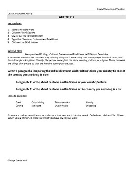 ESL & Basic Word Processing Skills - Lesson 1 Save As & Word Wrap