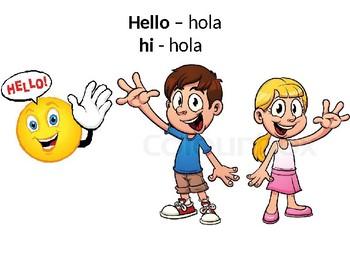 ESL Basics/ Classroom Directions -English/Spanish