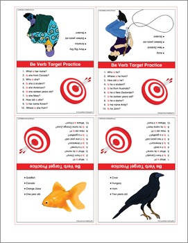 ESL Be-Verb Target Cards