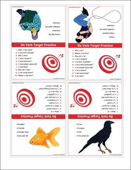 ESL Be Verb Target Cards