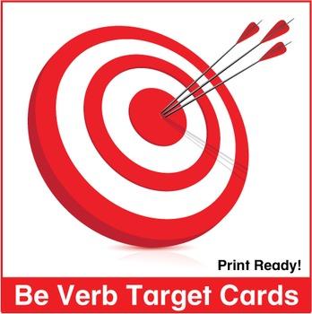 Be Verb Target Cards