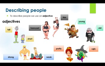 ESL - Be and Have to Describe People