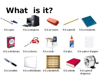 "ESL Beginner: ""Be"" & Classroom Objects"