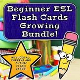 ESL Beginner Flashcards Growing Bundle!