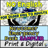 ESL Newcomer Emergency Pack Sampler Great for Beginners