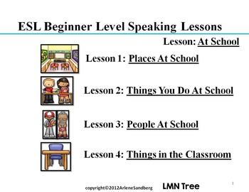 ESL Elementary Lessons: At School