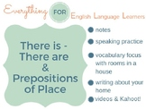 ESL Beginner/ Elementary: There is/are & Prepositions of Place