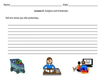 ESL Beginner Writing: Lesson 2 - Subject and Predicate