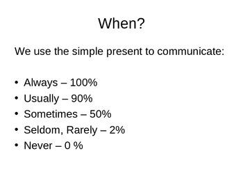 ESL - Beginning Level - Simple Present PowerPoint