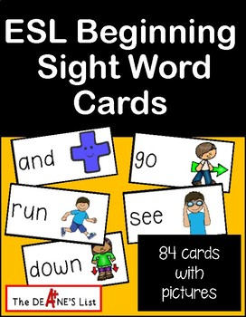 ESL Beginning Sight Words