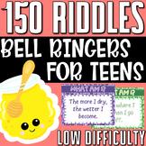 ELA Bell Ringers | 150 Easy Riddles for Teens | BUNDLE