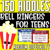 Bell Ringers Brain Teasers Medium Riddles for Teens BUNDLE (3 volumes)