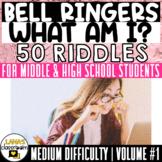 Bell Ringers   50 Medium Riddles Brain Teasers   For Teens   Vol.#1   EDITABLE