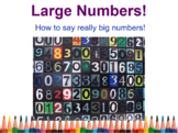 ESL Big Numbers Lesson with Simplified Chinese