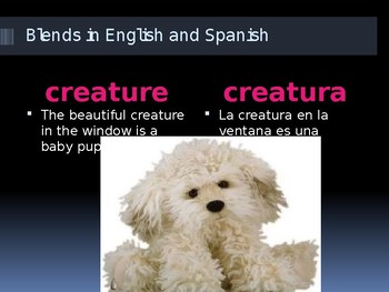 "ESL- Bilingual Blends ""cr"" Similar Words English and Spanish"