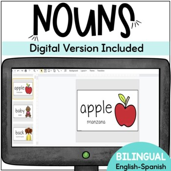 ESL Bilingual Nouns Sight Words English-Spanish