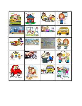 ESL Bingo- places at school and school verbs