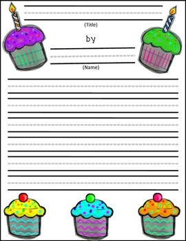 esl birthday writing scaffold paper and cupcake craft by esl rocks esl birthday writing scaffold paper and cupcake craft