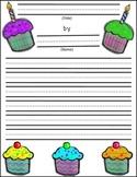 ESL Birthday Writing Scaffold, Paper and Cupcake Craft