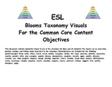 ESL- Blooms Taxonomy Visuals For the Common Core Content Objectives