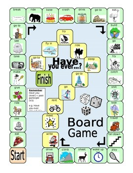 ESL Board Game - Have You Ever (Present Perfect) - EFL worksheet