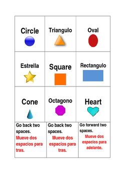 ESL Board Game (Spanish and English Cards)