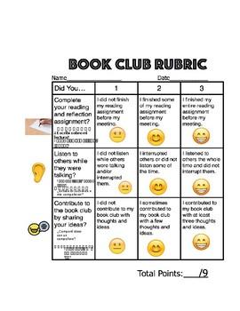 ESL Book Club Self Reflection Rubric