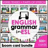 ESL Boom Card™ Bundle    Verb Tenses, Parts of Speech and