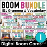 ESL Boom Card™ Bundle |  Verb Tenses, Parts of Speech and