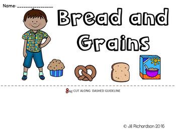 ESL Food Groups: Bread and Grains Flip Book!