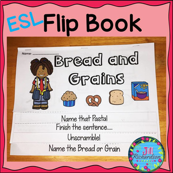 ESL Food Groups: Bread and Grains Flip Book!