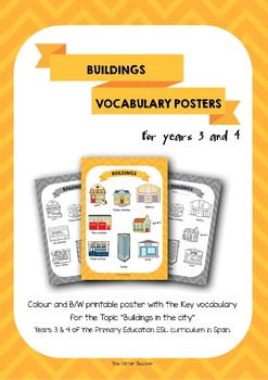 ESL Buildings vocabulary posters for years 3 & 4