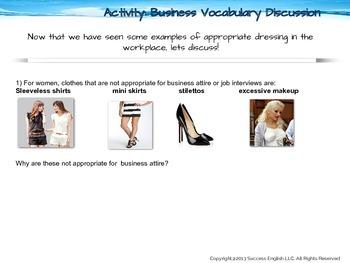 ESL Business English Class - Dressing for Success