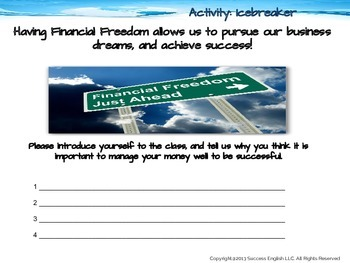 ESL Business English Class- Financial Freedom