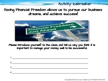 ESL Business English Class- Financial Freedom