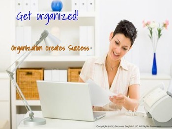 ESL Business English Class- Get Organized