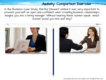 ESL Business English Class- Nonverbal Body Language for Business Success