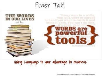 ESL Business English Class- Power Talk: Using Language to Your Advantage