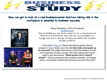 ESL Business English Class - Smart Women Take Risks