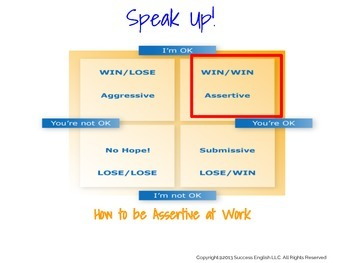 ESL Business English Class - Speak Up! How to Be Assertive at Work