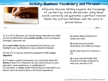 ESL Business English Class- The Perfect CV: How to Get the Job You Really Want