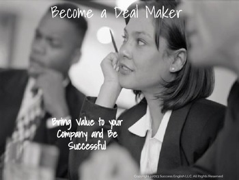 ESL Business English Class for Women- Become a Deal Maker