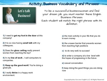 ESL Business English Class- Find Your Dream Job