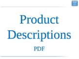 1.3 - ESL Business English Lesson - Product Descriptions - PDF