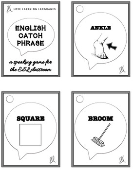 ESL - ELL CATCH PHRASE Speaking Game