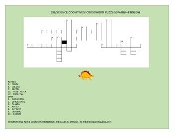 ESL COGNITIVES- CROSSWORD PUZZLE/GRADES 4-8