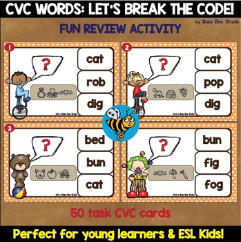 ESL Game: Let's Break the Code (CVC Words)