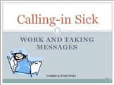 ESL Calling In Sick-Work and Taking Messages(PowerPoint Printable Phone Health)