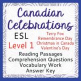 ESL Canadian Celebration Bundle of 4 (Level 1)