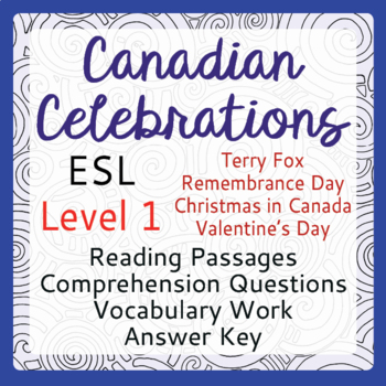 ESL Canadian Celebration Bundle of 4 (Level 1)